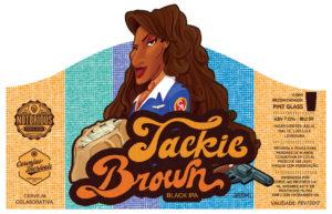 Rótulo de Cerveja Jackie Brown com ilustração da personagem