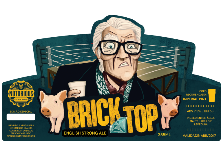 Rótulo de Cerveja Brick Top